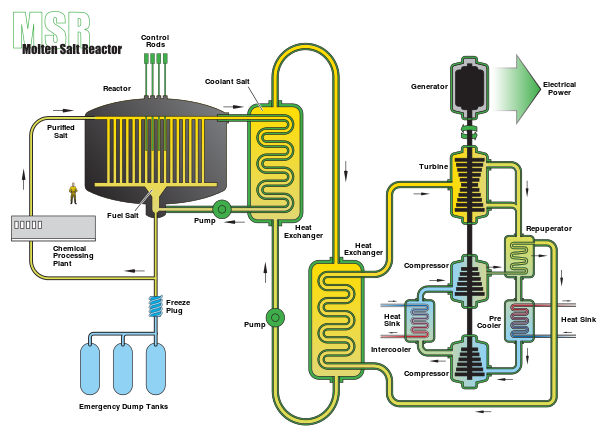 3 Solid Fuel Molten Salt Nuclear Reactor Schematic Source Wikimedia Commons