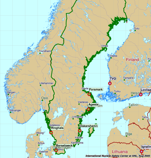 Nuclear Power In Sweden - Map nuclear power plants in us