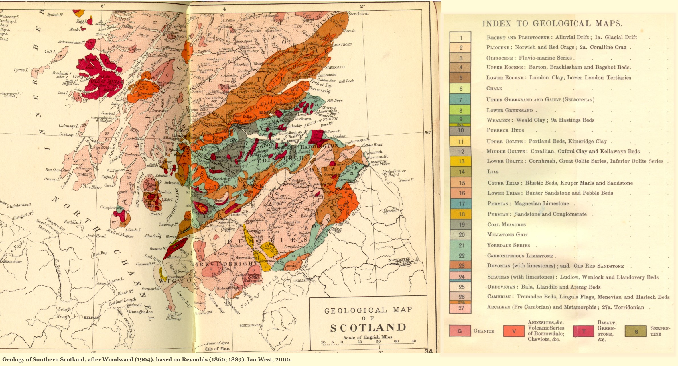 Geology of Great Britain UK Introduction and maps by Ian West