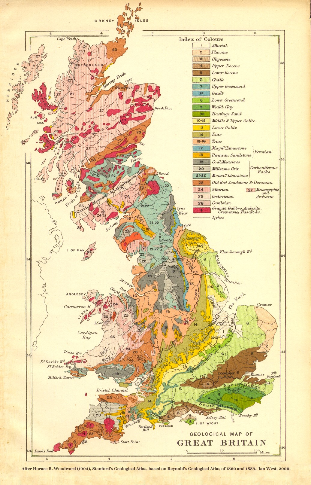 Map Of S England.Geology Of Great Britain Uk Introduction And Maps By Ian West